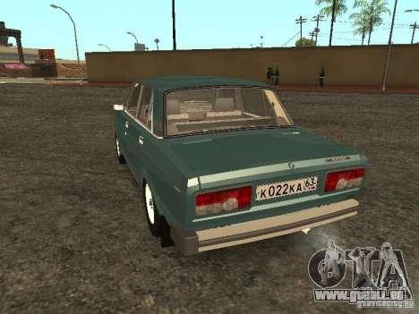 VAZ 2105 v. 2 für GTA San Andreas zurück linke Ansicht