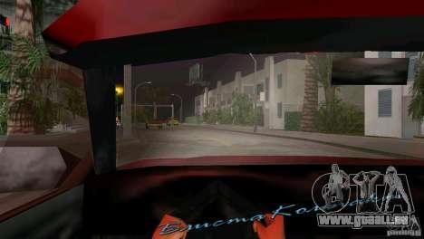 Vue depuis la cabine pour le quatrième écran GTA Vice City
