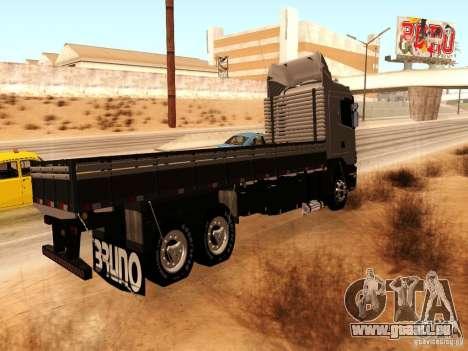 Scania 124G R400 pour GTA San Andreas sur la vue arrière gauche