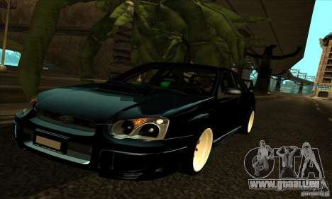 Subaru Impresa WRX light tuning pour GTA San Andreas vue de dessus