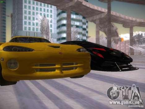 Dodge Viper 1996 für GTA San Andreas obere Ansicht