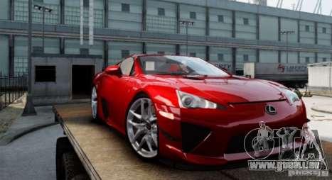 Lexus LF-A pour GTA 4 est une gauche