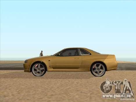 Nissan Skyline R34 VeilSide pour GTA San Andreas laissé vue