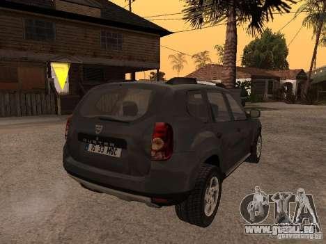 Dacia Duster pour GTA San Andreas vue intérieure