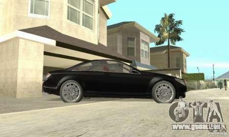 Mercedes-Benz CL500 pour GTA San Andreas sur la vue arrière gauche