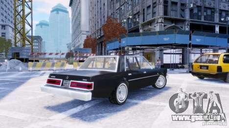 Dodge Diplomat 1983-85 pour GTA 4 est une gauche