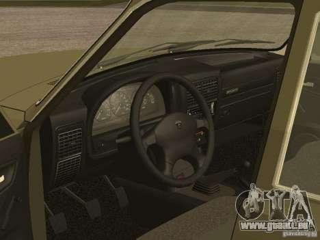 GAZ 3110 v 1 pour GTA San Andreas vue arrière