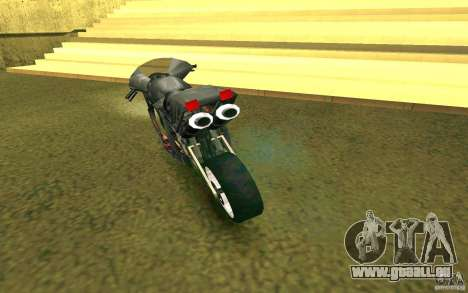 Moto de la ville de Alien pour GTA San Andreas vue de droite