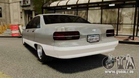 Chevrolet Caprice 1991 für GTA 4 hinten links Ansicht