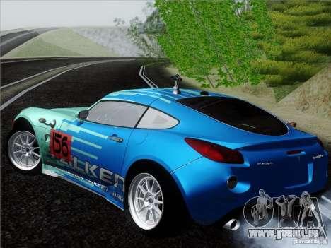 Pontiac Solstice Falken Tire pour GTA San Andreas sur la vue arrière gauche