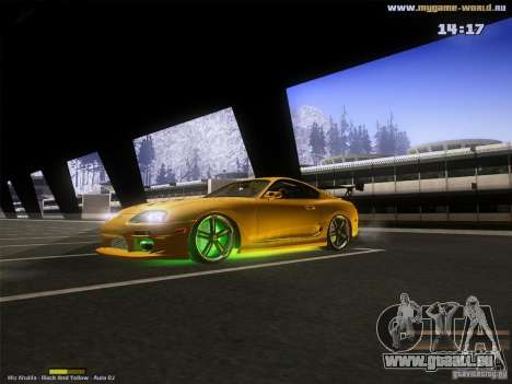 Toyota Supra v2 (MyGame Drift Team) pour GTA San Andreas laissé vue