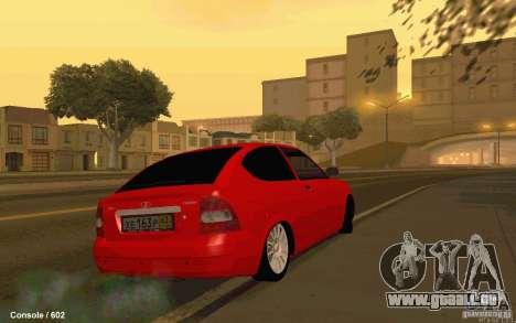 Lada Priora Coupe pour GTA San Andreas sur la vue arrière gauche