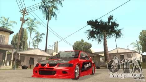 Mitsubishi Evo 8 Tuned pour GTA San Andreas