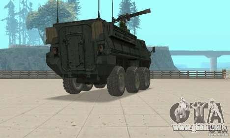 Stryker pour GTA San Andreas laissé vue