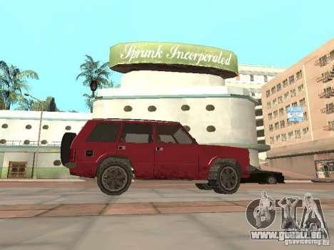 Die neue Huntley für GTA San Andreas linke Ansicht