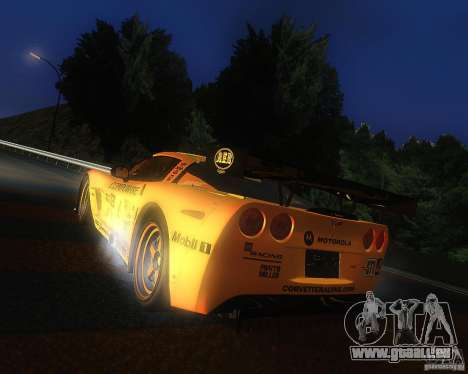 Chevrolet Corvette Drift für GTA San Andreas linke Ansicht