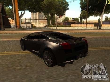 Lamborghini Gallardo Superleggera 2006 für GTA San Andreas rechten Ansicht