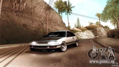 Honda CRX JDM pour GTA San Andreas sur la vue arrière gauche