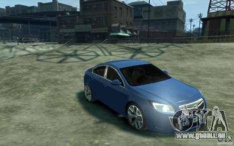Opel Insignia OPC 2010 pour GTA 4 Vue arrière