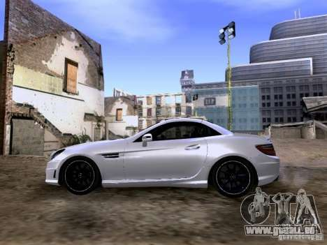 Mercedes-Benz SLK55 AMG 2012 für GTA San Andreas Rückansicht