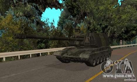 Msta-s 2s19, version hiver pour GTA San Andreas laissé vue