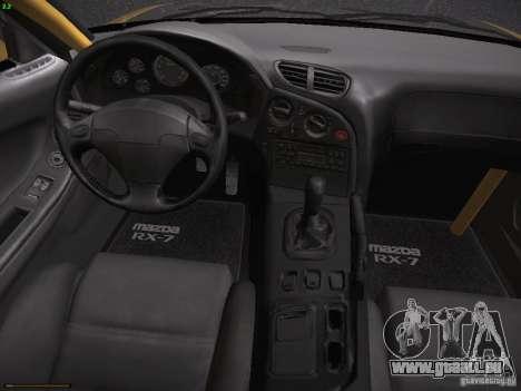 Mazda RX-7 FD3S C-West Custom für GTA San Andreas Rückansicht
