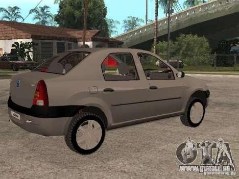 Dacia Logan 1.6 für GTA San Andreas Innenansicht