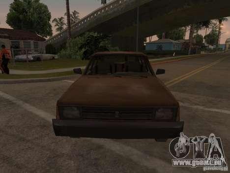 Machine de CoD MW 2 pour GTA San Andreas vue arrière