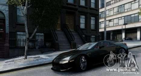 Lexus LF-A pour GTA 4 Vue arrière de la gauche