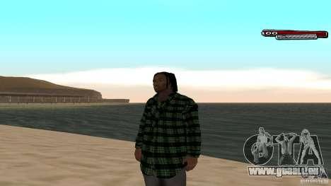 New skin Grove HD pour GTA San Andreas troisième écran