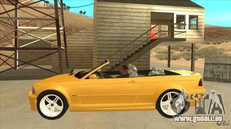 BMW E46 M3 Cabrio pour GTA San Andreas laissé vue