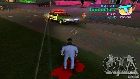 L'écoulement du sang GTA Vice City pour la troisième écran