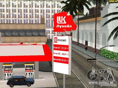 La station-service Lukoil pour GTA San Andreas troisième écran