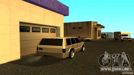 Huntley Sport pour GTA San Andreas sur la vue arrière gauche