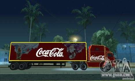 KAMAZ 54112 Noël pour GTA San Andreas vue de droite