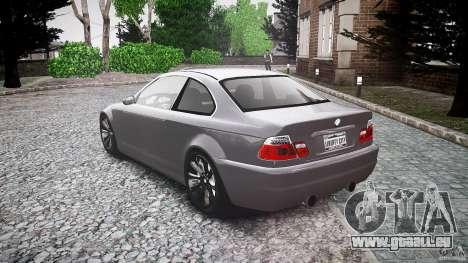 BMW 3 Series E46 v1.1 pour GTA 4 Vue arrière de la gauche
