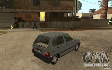 Fiat Uno 70s pour GTA San Andreas vue de droite
