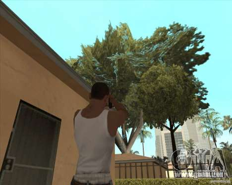 Smith Wesson HD + animation für GTA San Andreas dritten Screenshot
