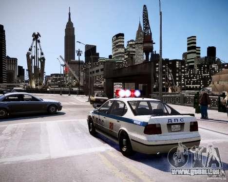 Russian Police Patrol pour GTA 4 Vue arrière de la gauche