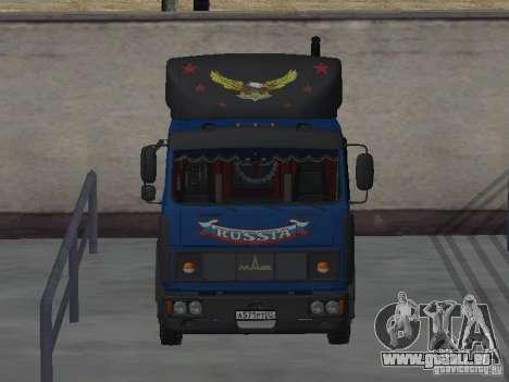 MAZ 5432 YAMZ-238 b 4 x 2 pour GTA San Andreas vue arrière