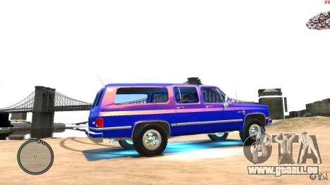Chevrolet Suburban 1986 pour GTA 4 Vue arrière