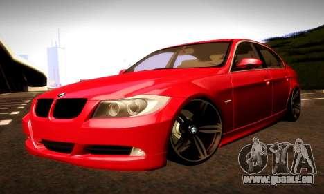 BMW 330 E90 pour GTA San Andreas vue de dessous