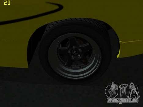 Lamborghini Diablo SV pour GTA San Andreas vue intérieure