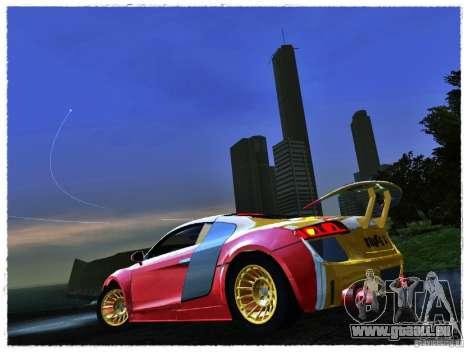 Audi R8 Calibri-Ace für GTA San Andreas zurück linke Ansicht