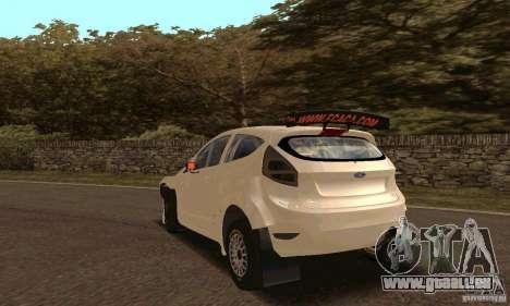 Ford Fiesta Rally pour GTA San Andreas vue de côté