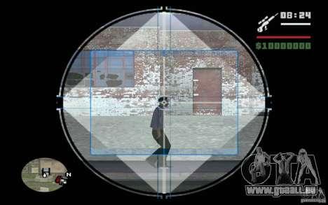 Sniper mod c. 2 pour GTA San Andreas troisième écran