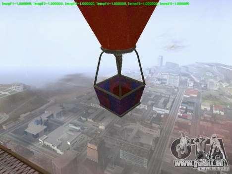 Ballon-Stil hippie für GTA San Andreas zurück linke Ansicht