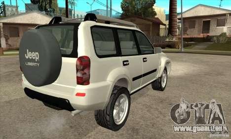 Jeep Liberty 2007 pour GTA San Andreas vue de droite