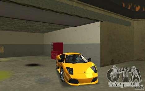 Lamborghini Murcielago LP640 für GTA Vice City Rückansicht