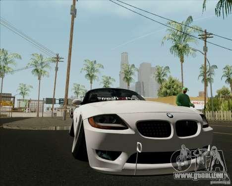 BMW Z4 Hellaflush pour GTA San Andreas vue intérieure